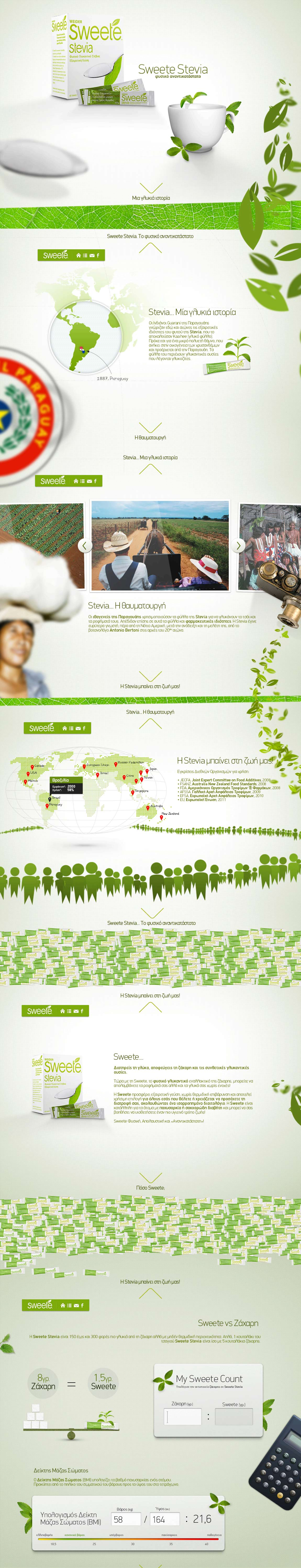 Sweete Stevia Website Screenshot