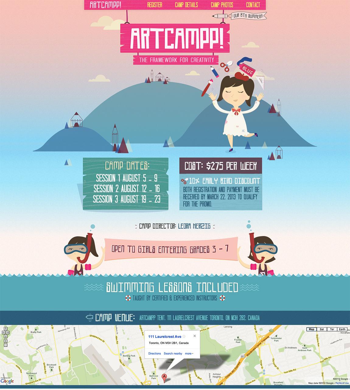 Artcampp 2013 Website Screenshot