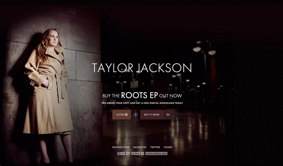 Taylor Jackson Website Screenshot