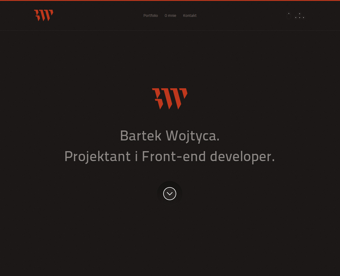 Bartek Wojtyca Website Screenshot