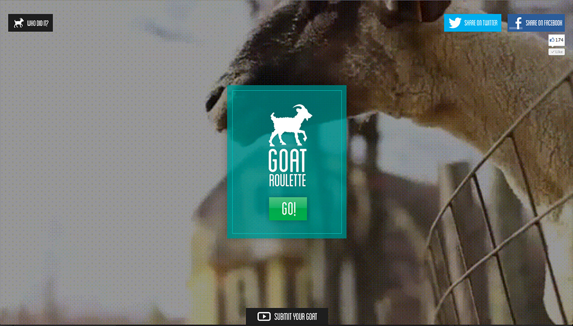 Goat Roulette Website Screenshot