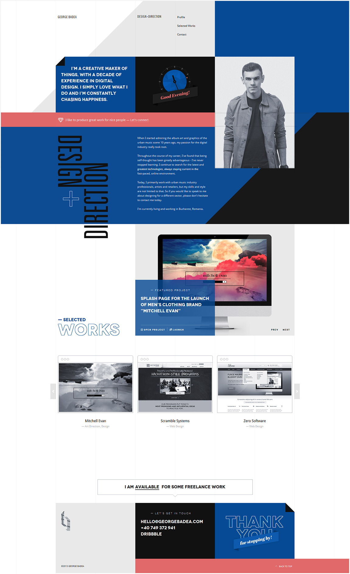 George Badea Website Screenshot