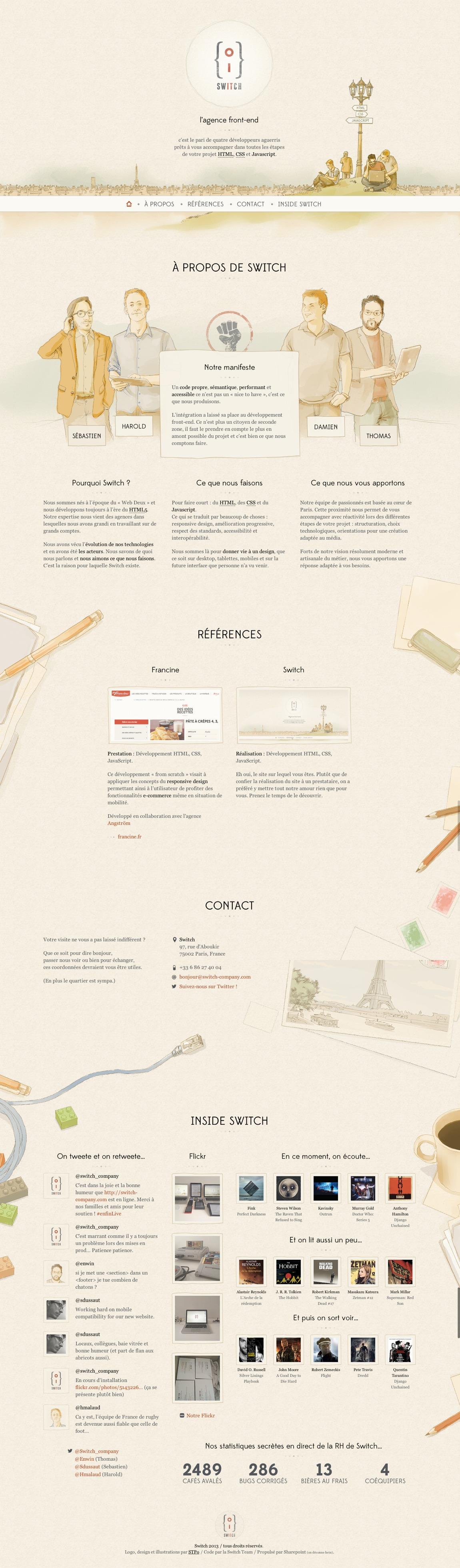 Switch Website Screenshot