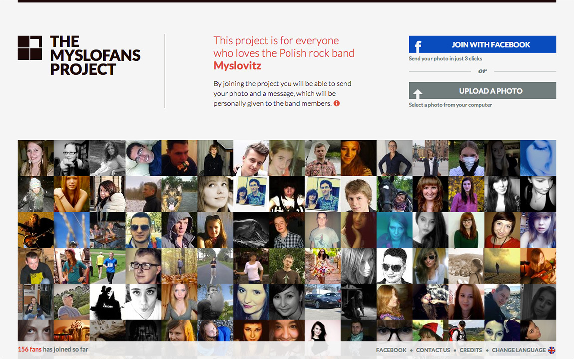 The MysloFans Project Website Screenshot