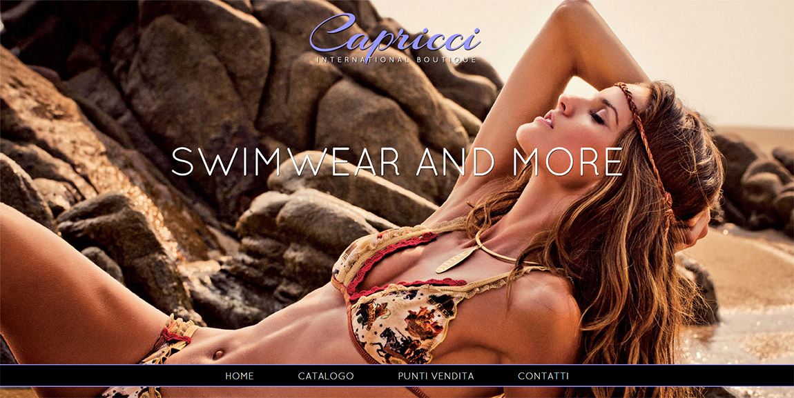 Capricci Boutique Website Screenshot