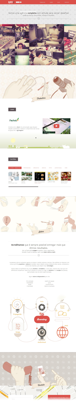 Raro! Agência de Comunicação Website Screenshot