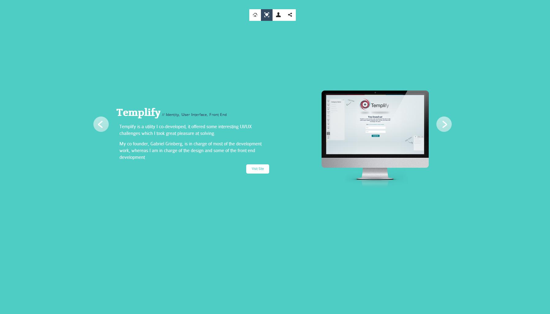 Nir Benita Website Screenshot