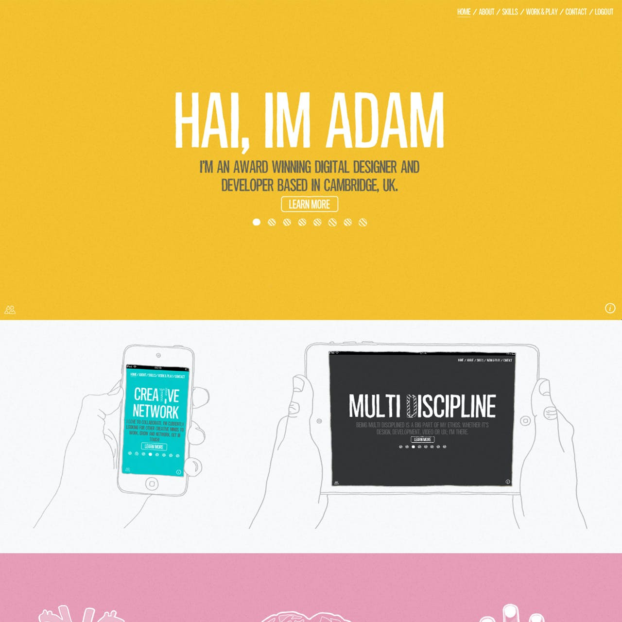 Adam Hartwig Website Screenshot