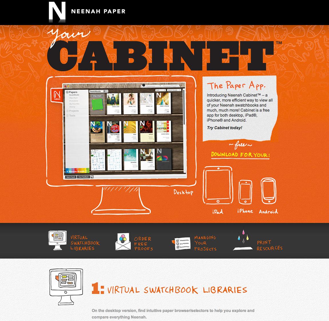 Your Cabinet Website Screenshot