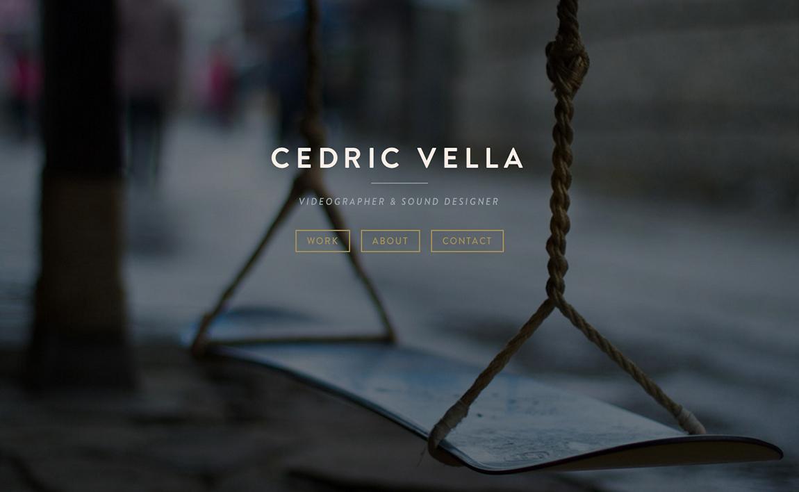 Cedric Vella Website Screenshot