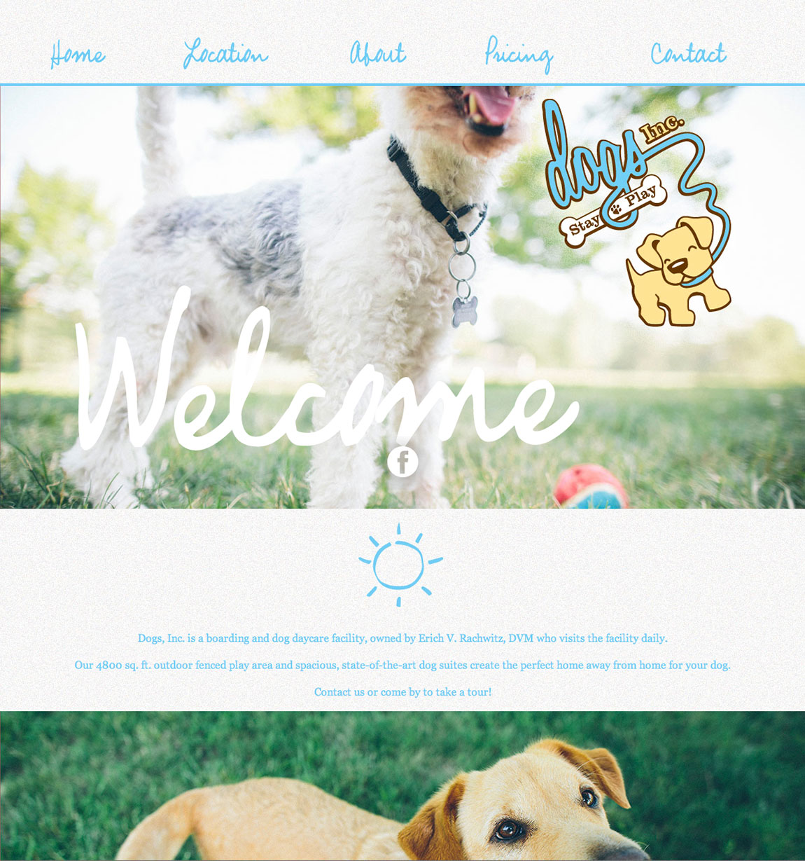 Dogs, Inc. Website Screenshot