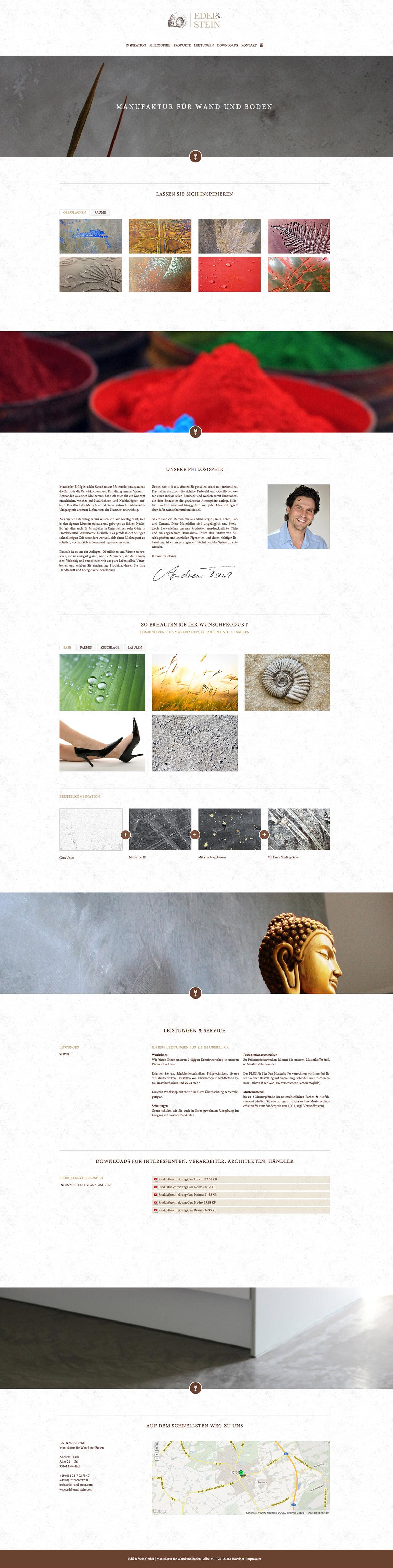 Edel & Stein Website Screenshot