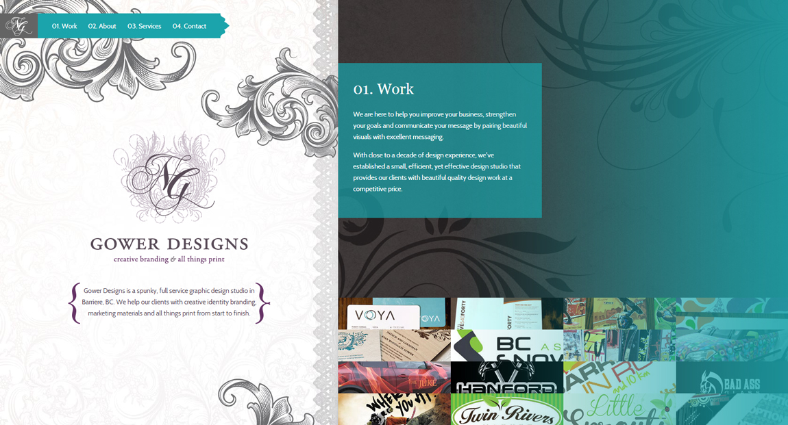 Gower Designs Website Screenshot