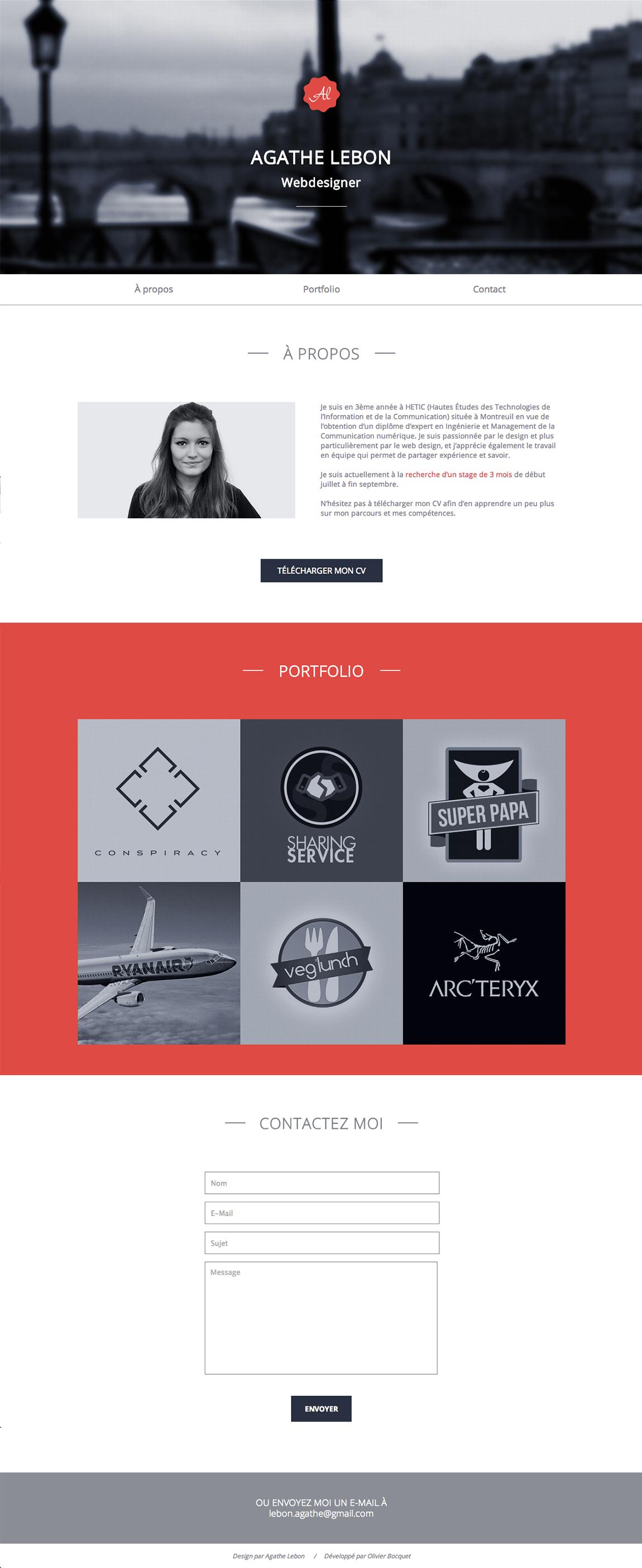 Agathe Lebon Website Screenshot