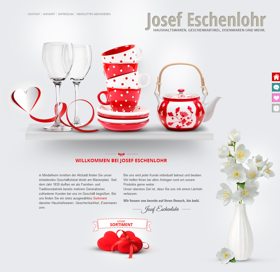 Josef Eschenlohr Website Screenshot