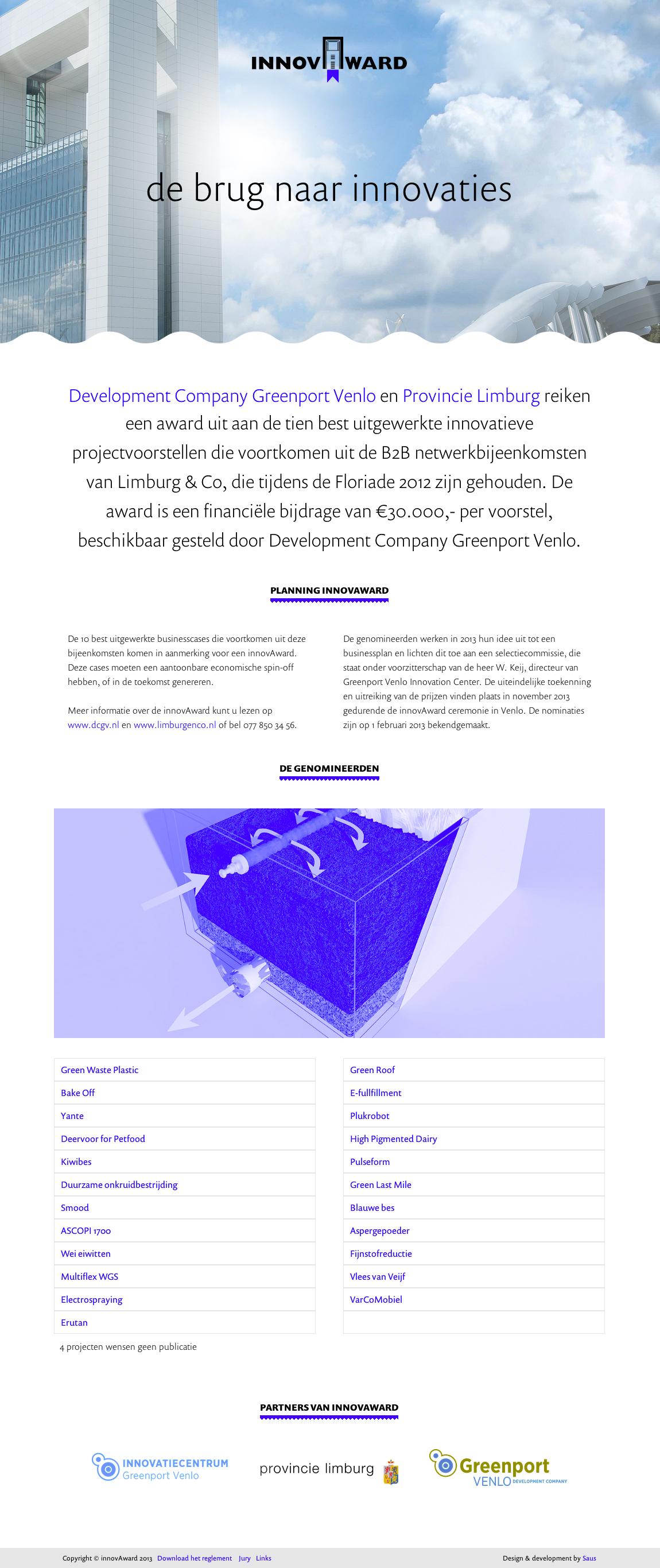 innovAward Website Screenshot