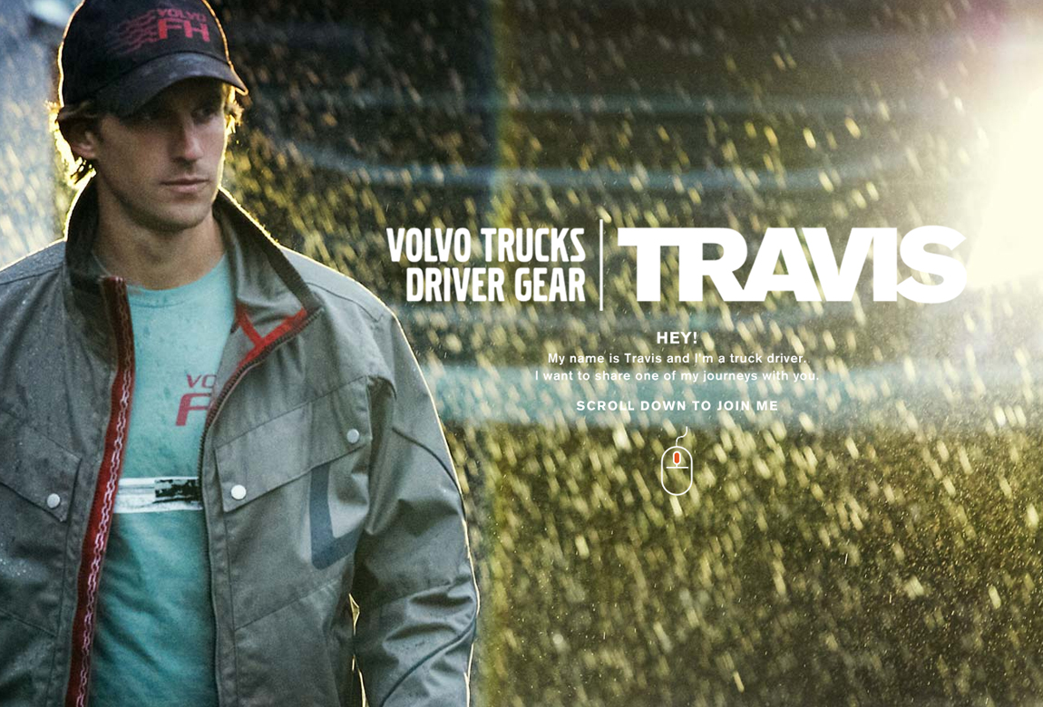 Volvo Trucks Driver Gear: Travis Website Screenshot