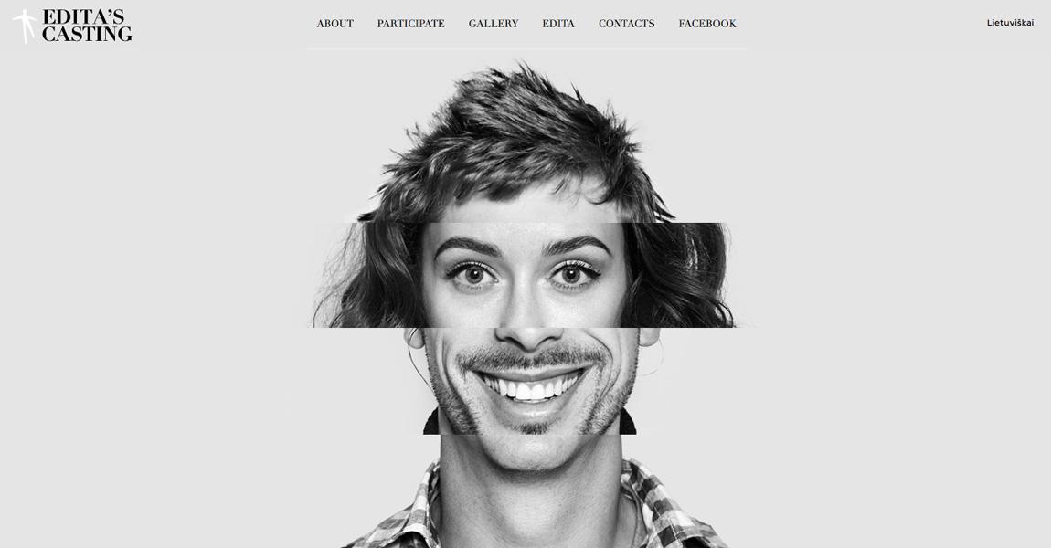 Edita's Casting Website Screenshot