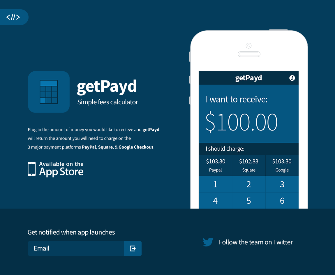 Getpay.me Website Screenshot