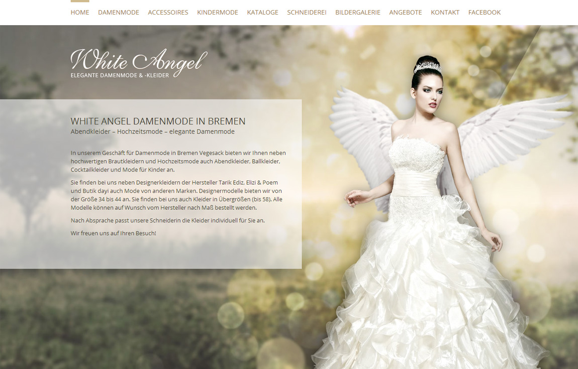 White Angel Mode Website Screenshot