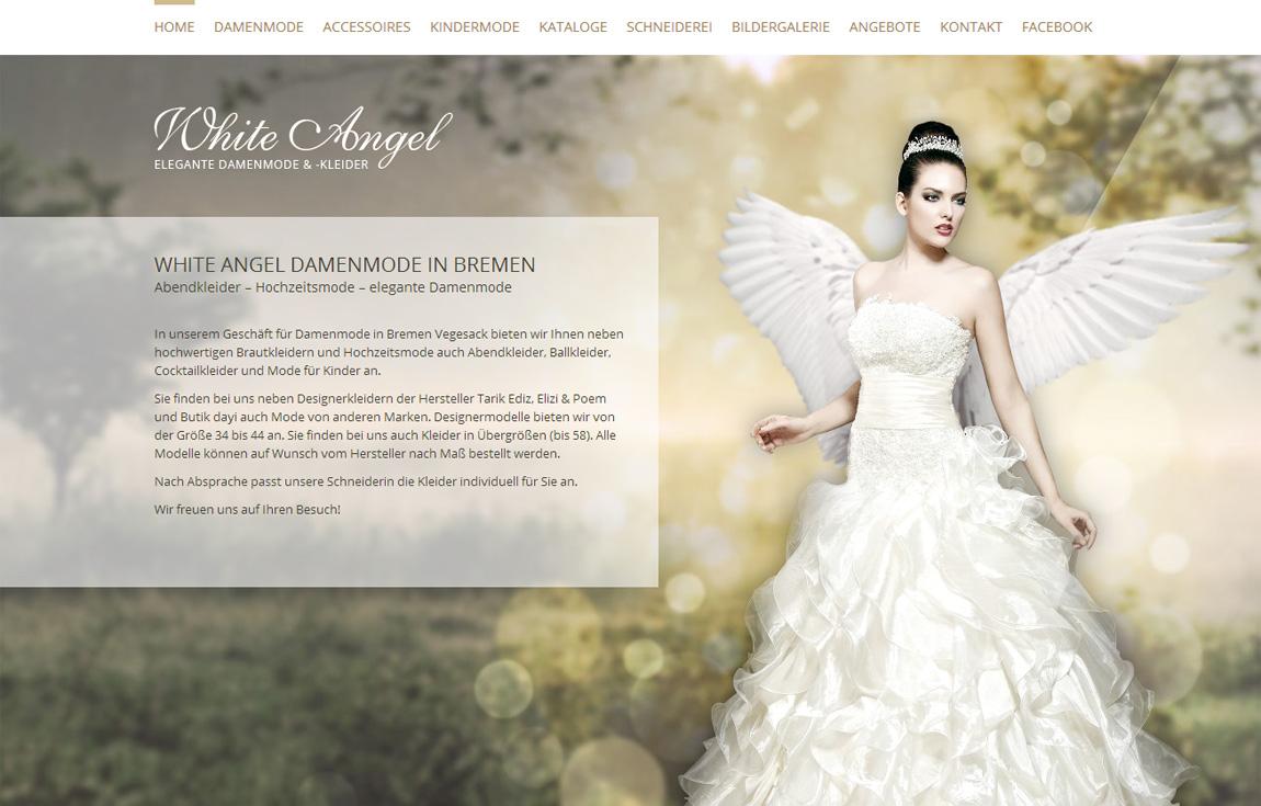 White Angel Mode Website Screenshot