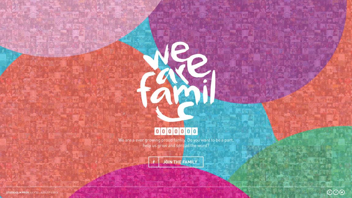 We Are Pride Family Website Screenshot