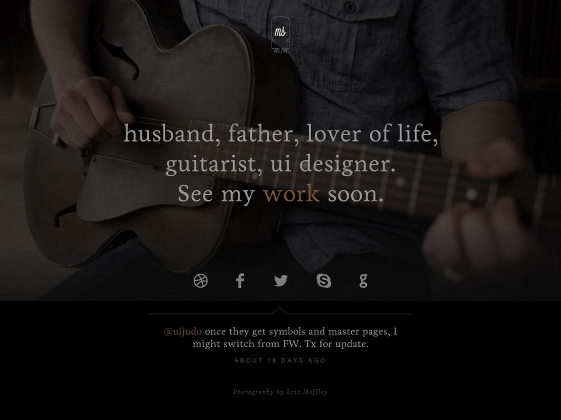 Matt Sawmiller Website Screenshot