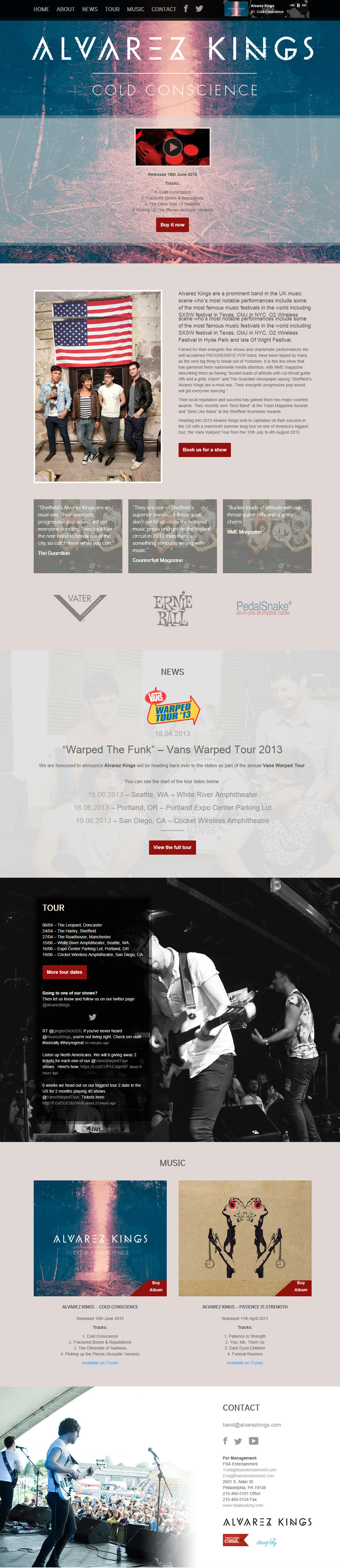 Alvarez Kings Website Screenshot