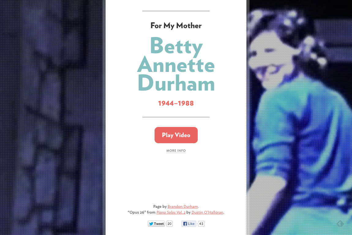 Betty Annette Durham Website Screenshot