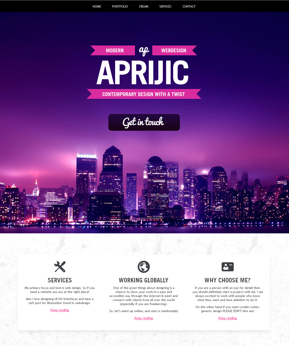 Aprijic Website Screenshot