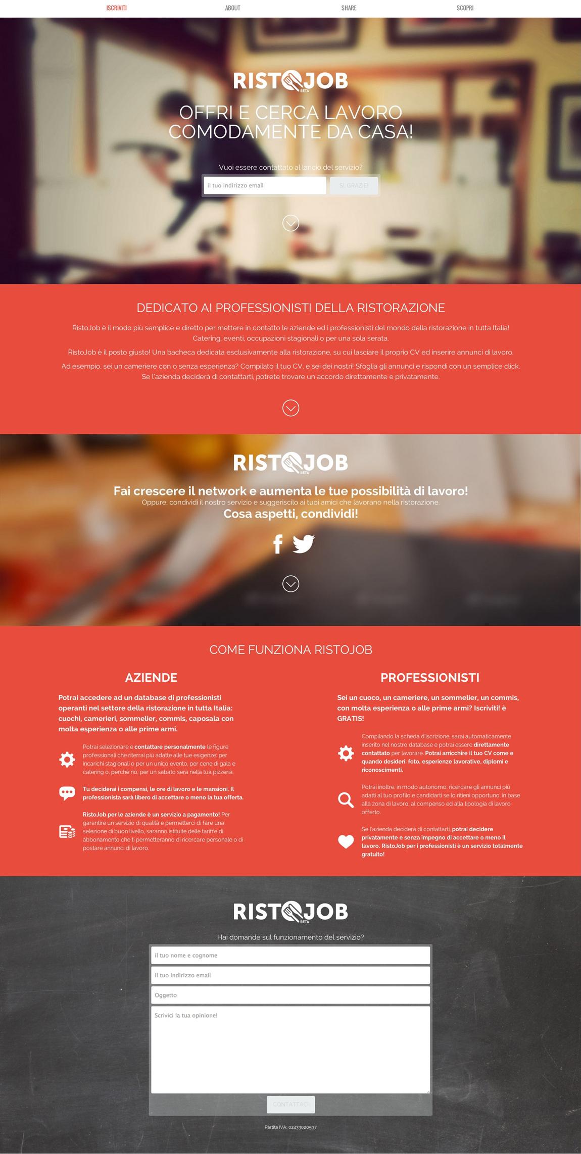 Ristojob Website Screenshot