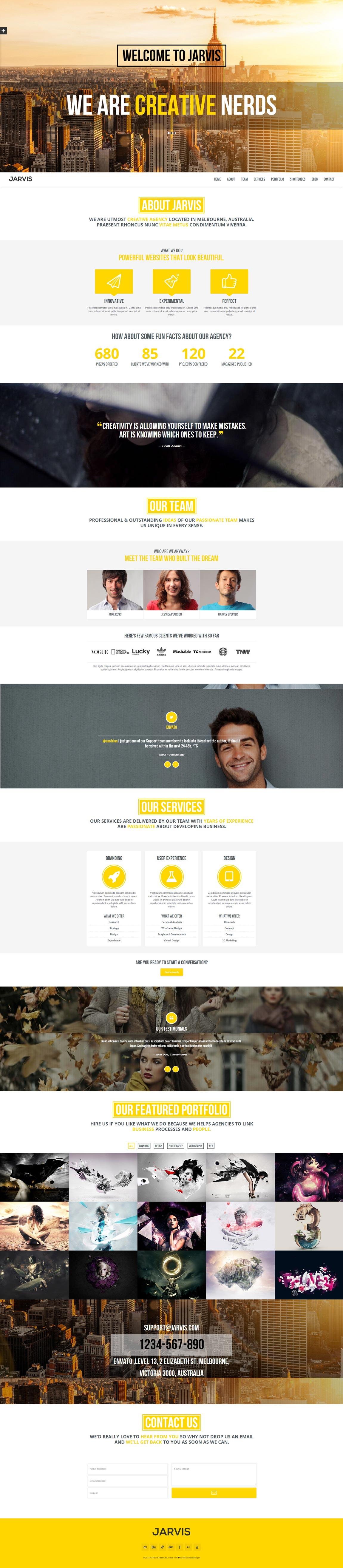 Jarvis Website Screenshot