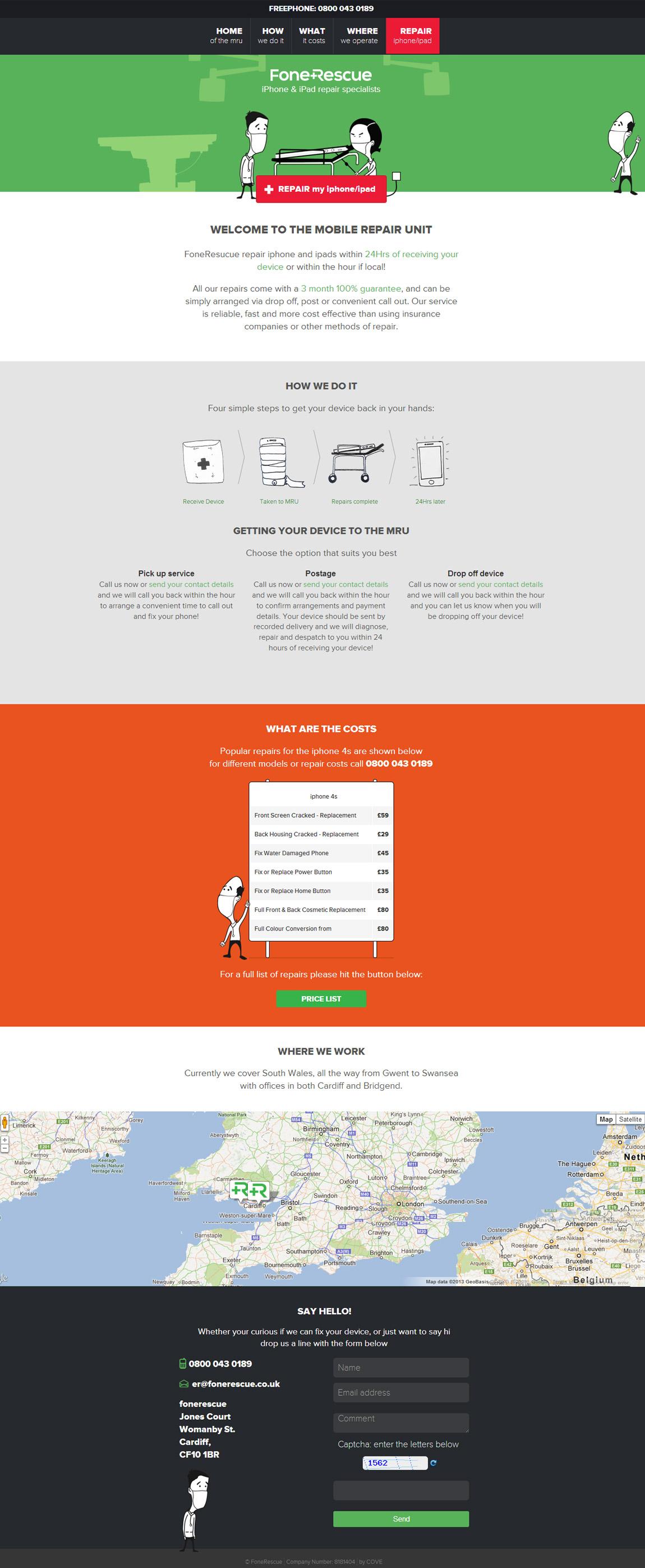 FoneRescue Website Screenshot