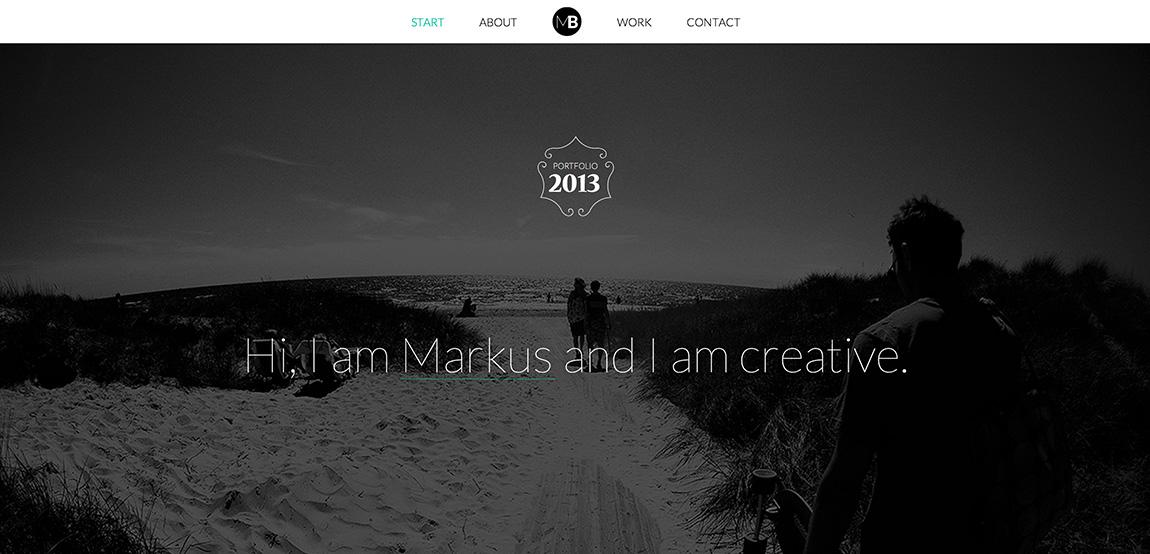 Markus Bergh Website Screenshot