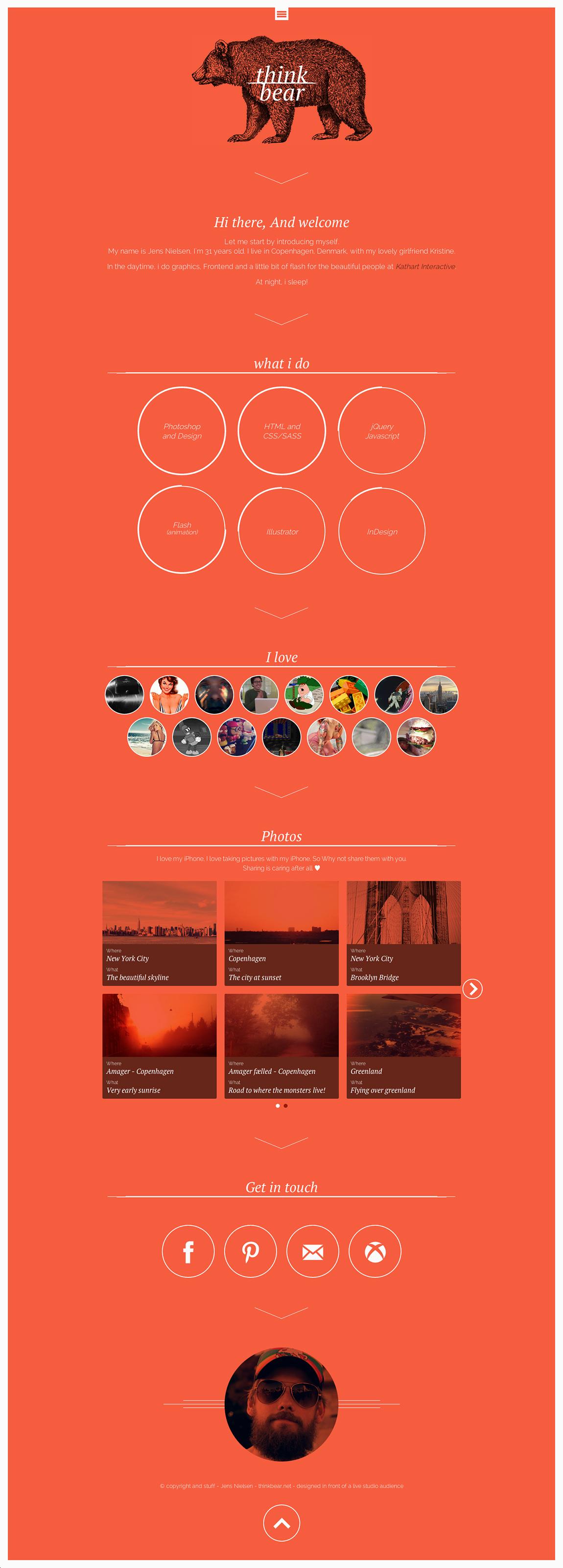 Think Bear Website Screenshot