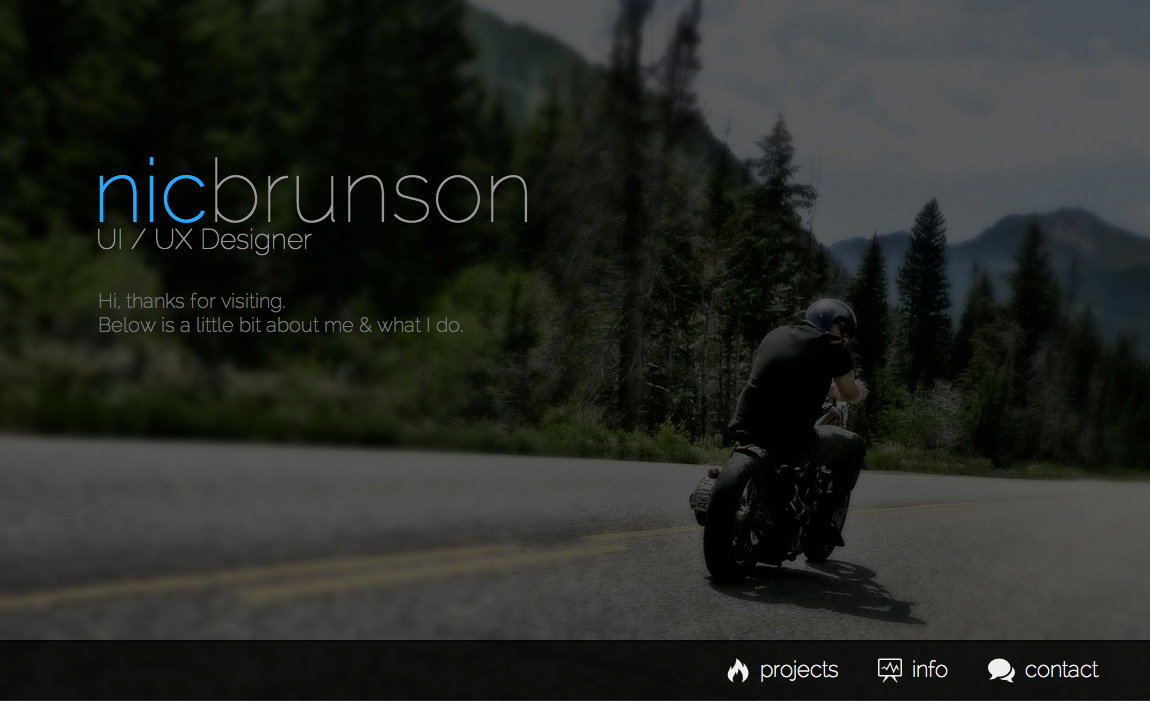 Nic Brunson Website Screenshot