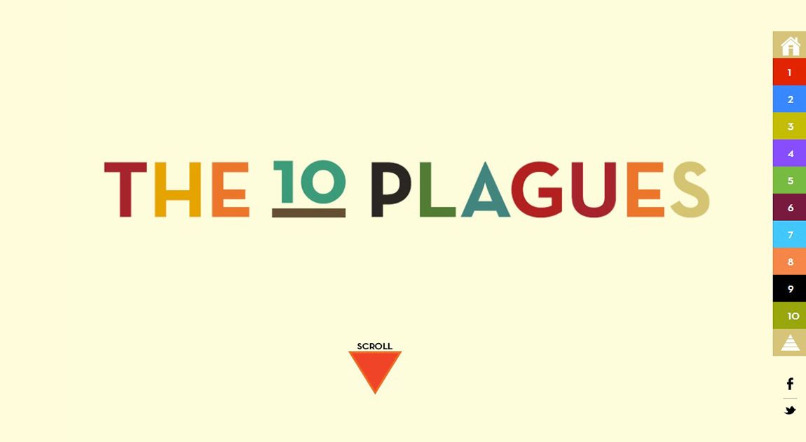 The 10 Plagues Website Screenshot