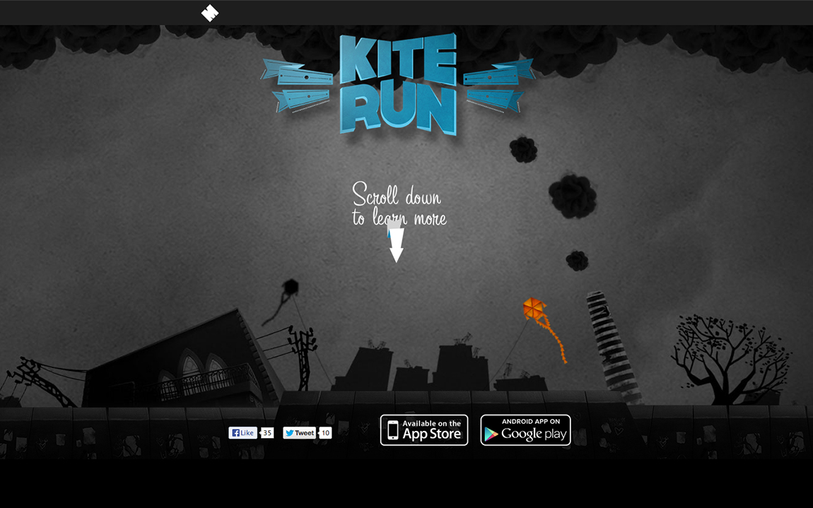 Kite Run Website Screenshot