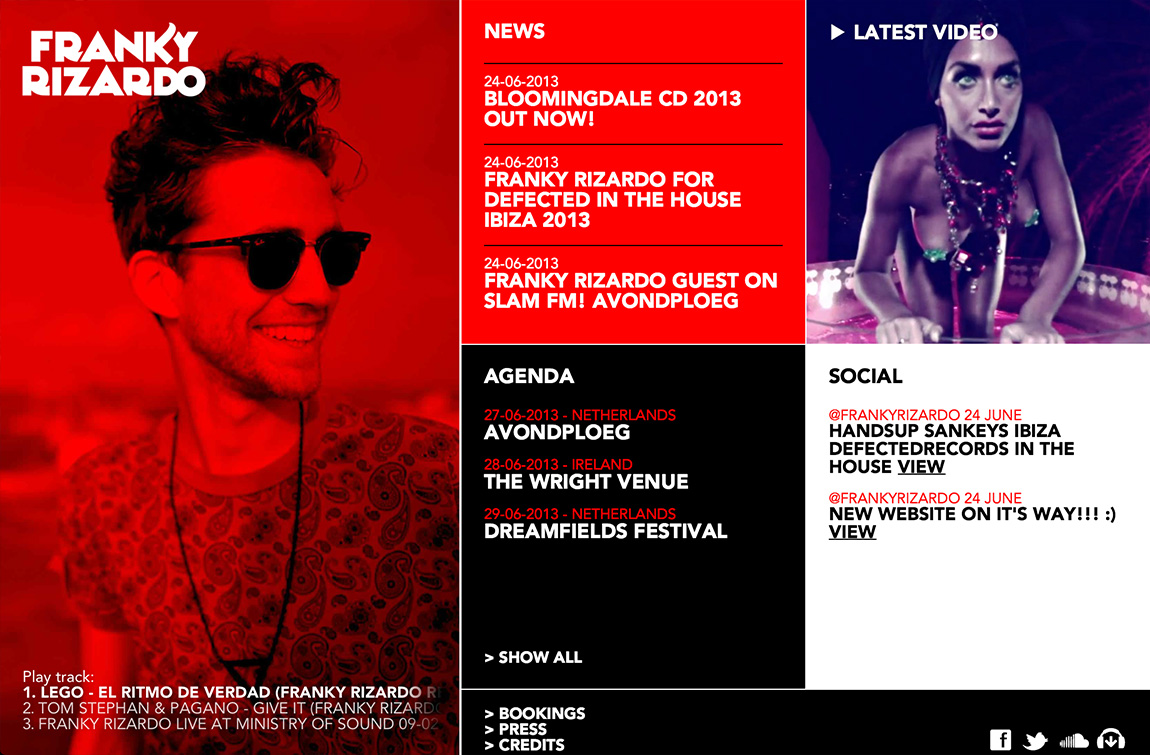 Franky Rizardo Website Screenshot