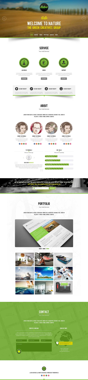 Nature Website Screenshot