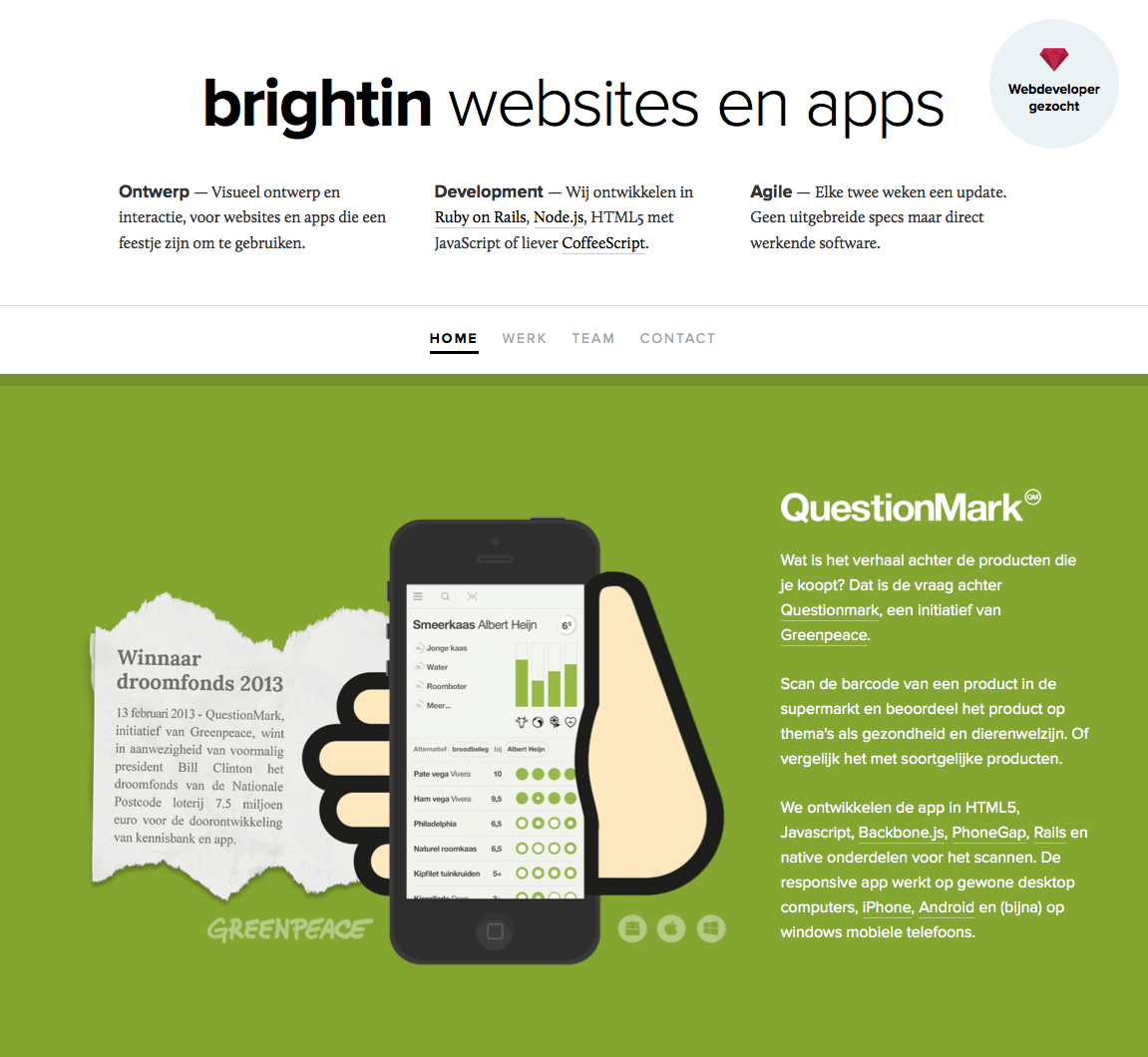 Brightin Website Screenshot