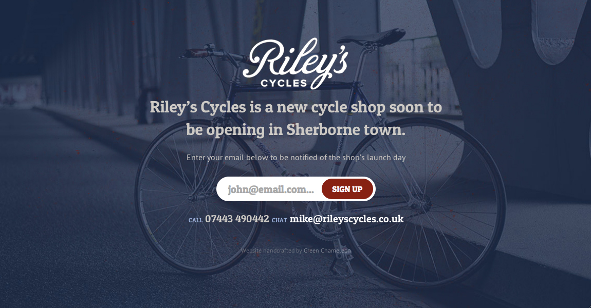 Riley's Cycles Website Screenshot