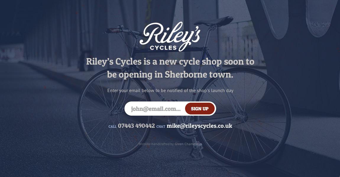 Riley's Cycles Website Screenshot