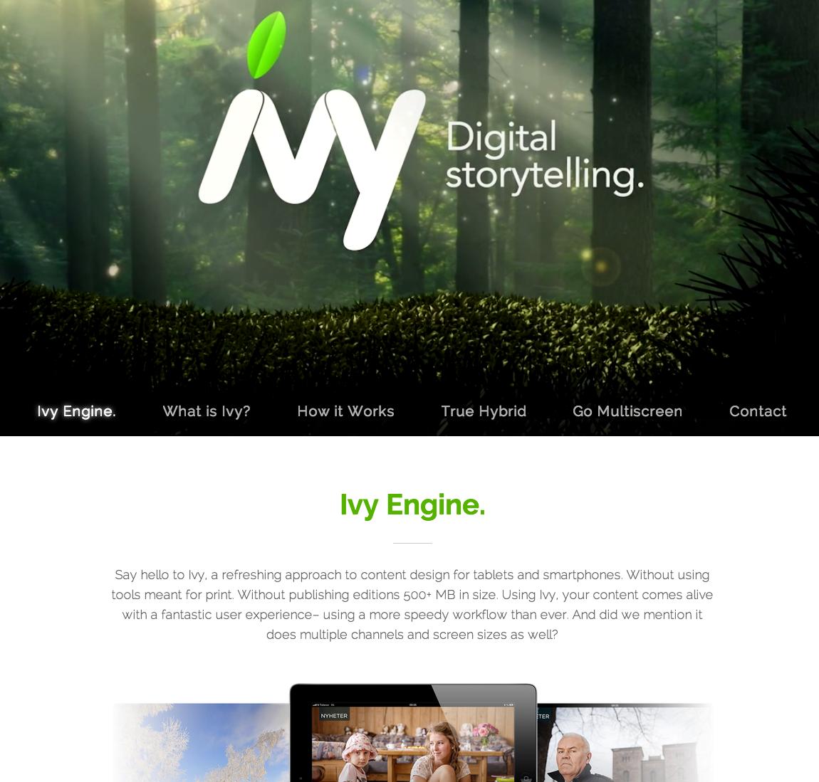 Ivy Engine Website Screenshot