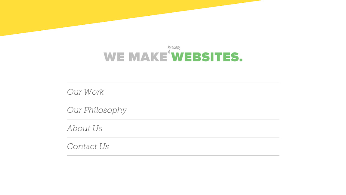 We Make Killer Websites Website Screenshot
