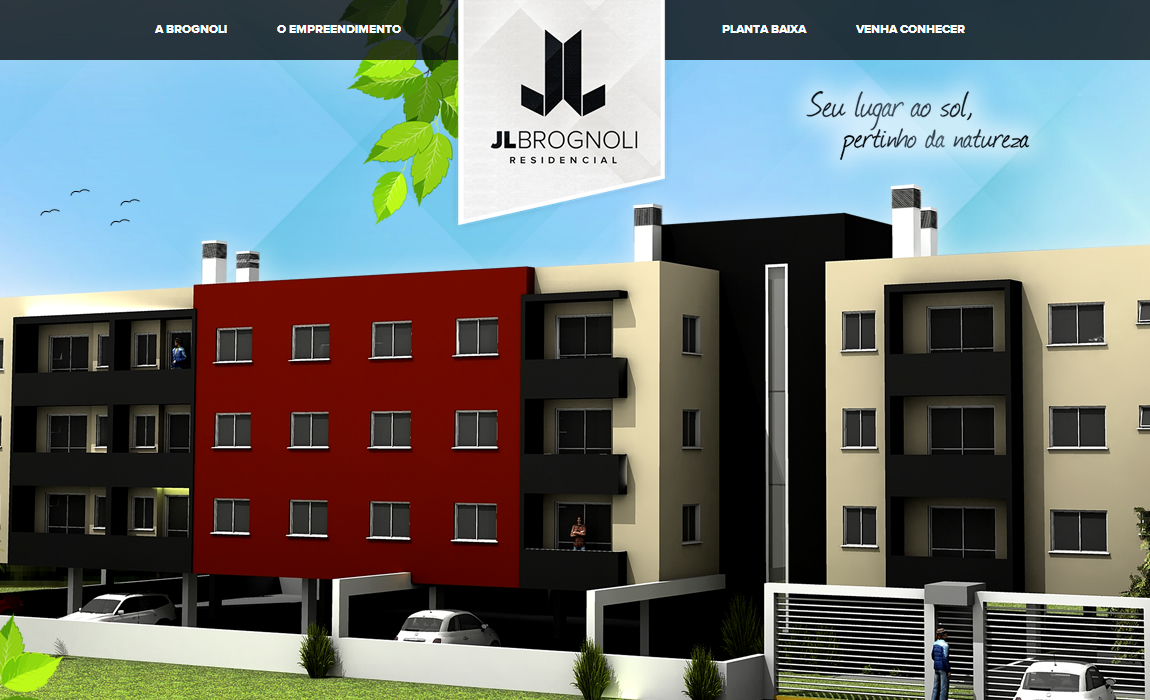 Brognoli Incorporadora Website Screenshot