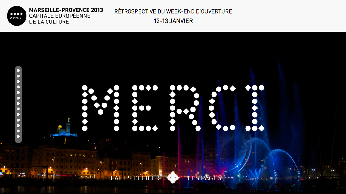 Merci – Marseille-Provence 2013 Website Screenshot