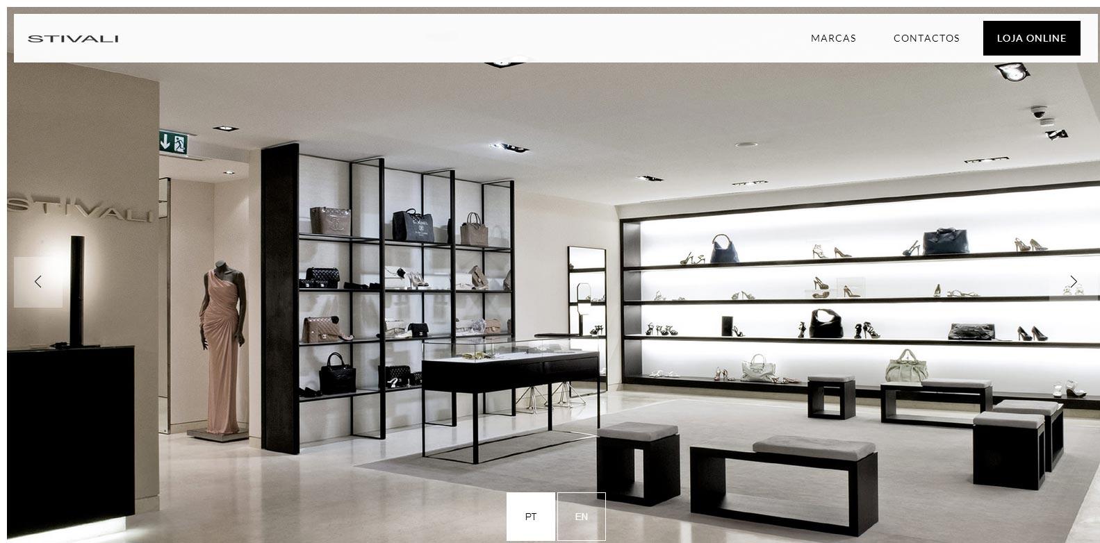 Stivali Website Screenshot