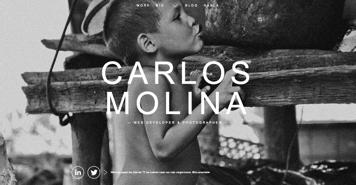 Carlos Molina Website Screenshot