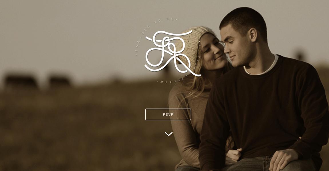 Sheely Wedding Website Screenshot